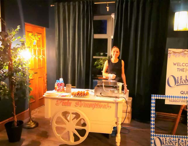 Waffle cart hire - Aylin Sweets -Fun foods for Corporate events & More