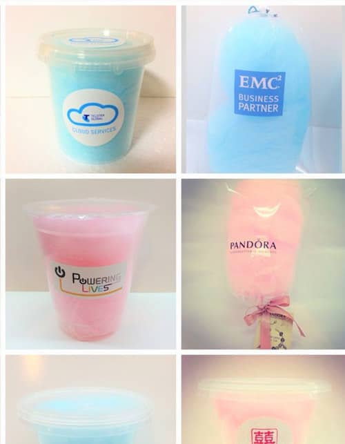 Branded candy floss branded candy machine