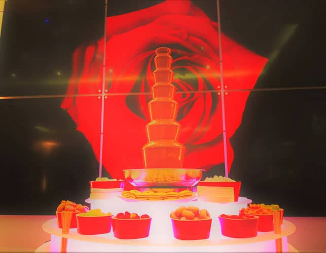 Chocolate Fountain Hire Red