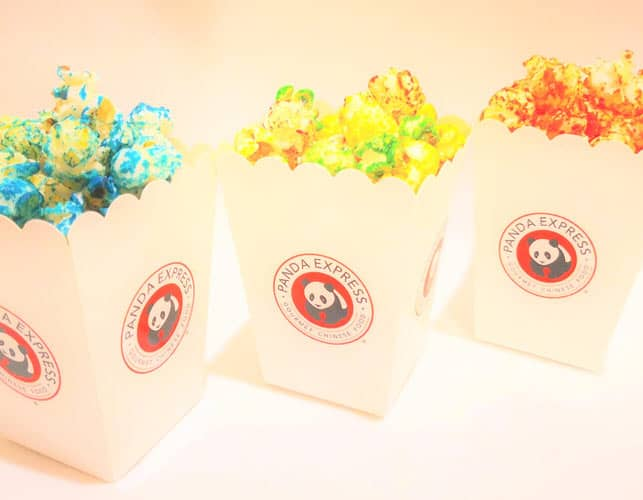 Popcorn Bags with colors