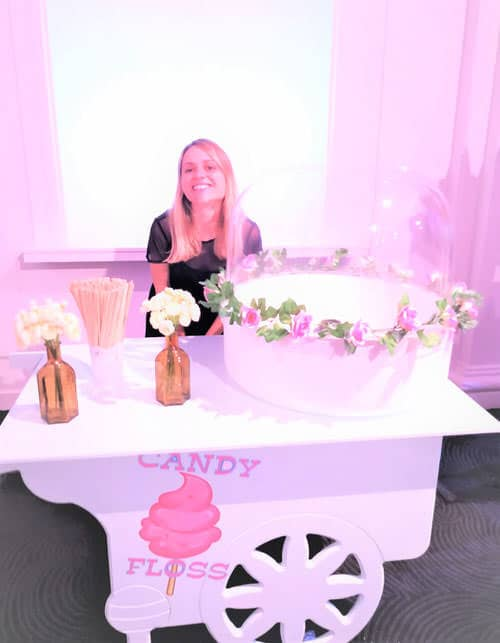 branded candy floss rental