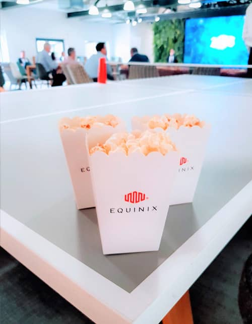 branded popcorn machine for corporate events