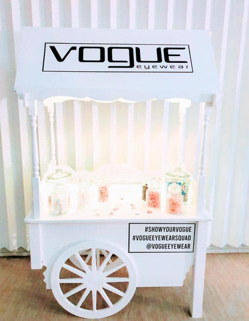 branded sweet cart for business