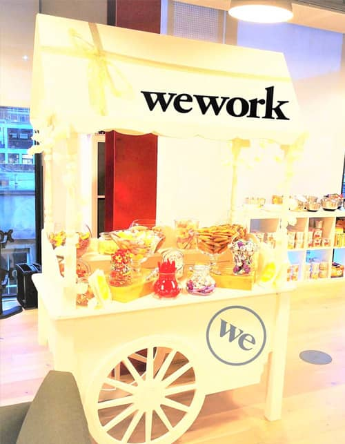 branded sweet cart hire
